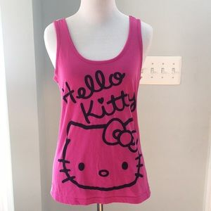Hello Kitty Pink and White Tank Top